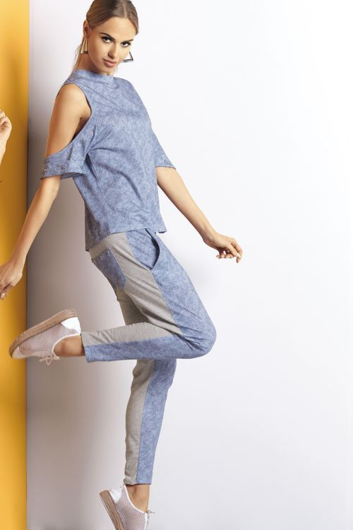 spodnie nocne z kieszeniami