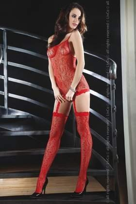 CATRIONA Bodystocking, red