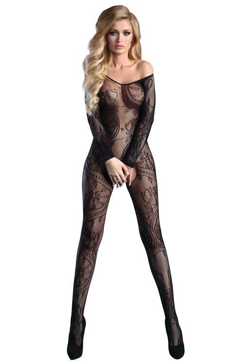ABRA Bodystocking, black