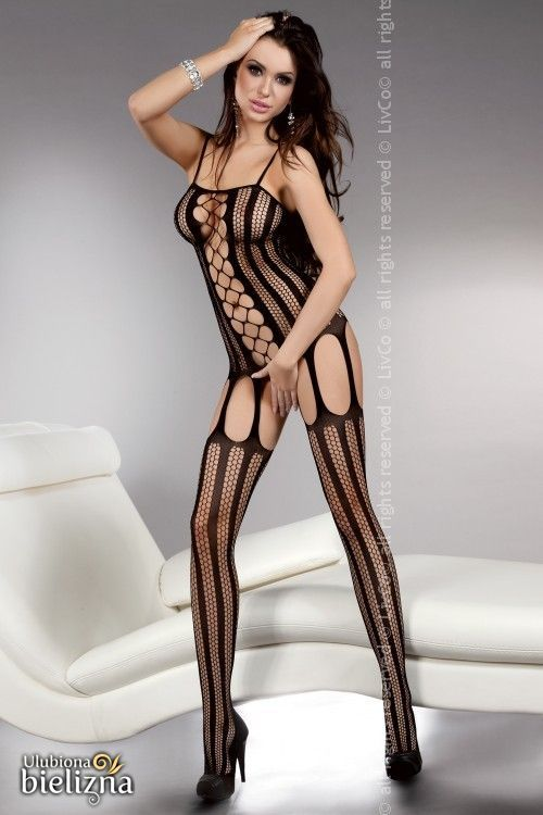 ALMAS Bodystocking, black