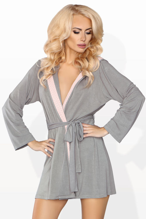 Dressing-gown M100, grey