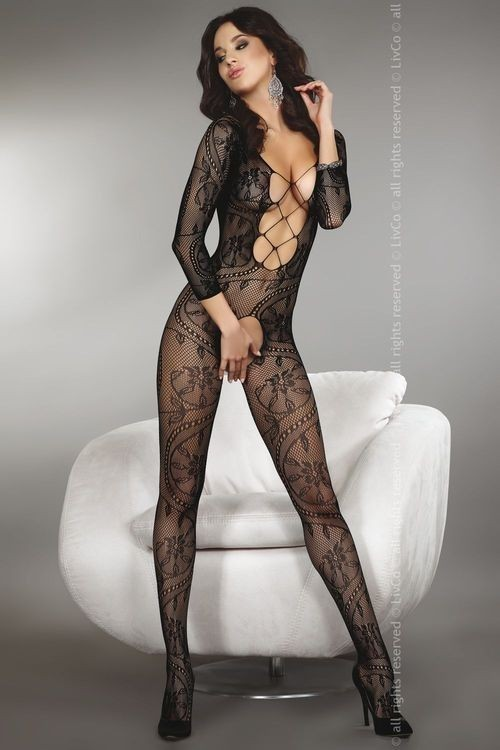 ZITA Bodystocking, black