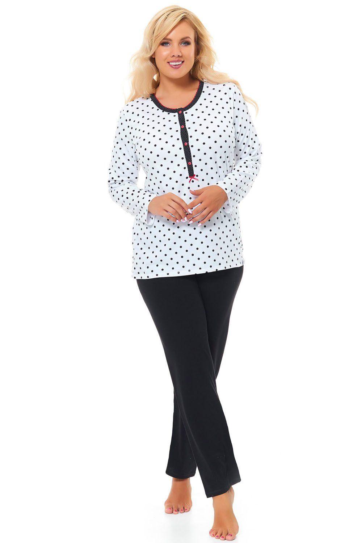 7954bbac492caa Dn-nightwear PB.9547 (kolor: white, typ: piżama) 43041 w cenie 105 ...
