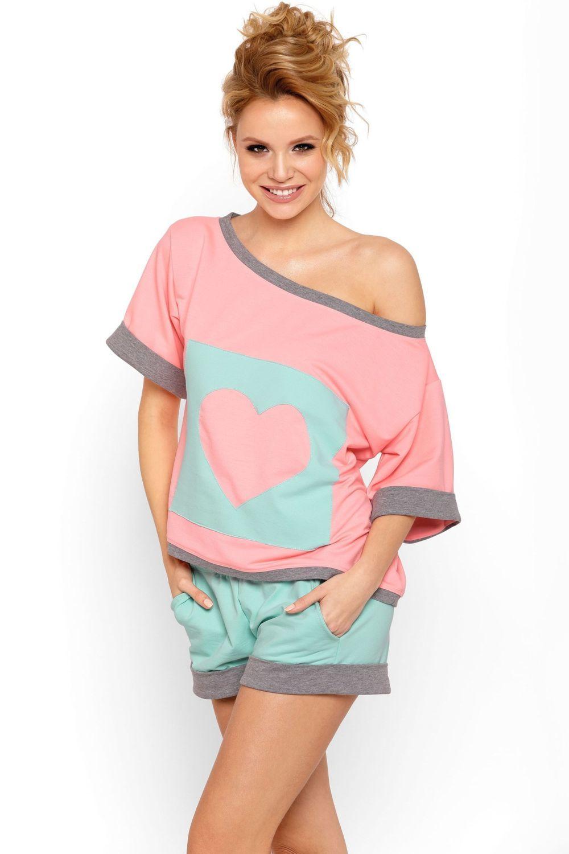 d8f71d8365 P-624 1 Dresowa piżama z krótkimi spodniami