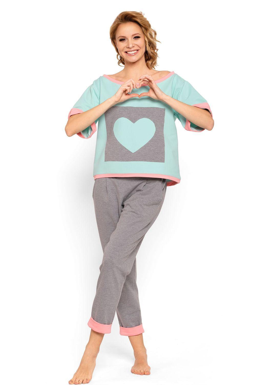 b116b8ab02 P-624 2 Dresowa piżama z długimi spodniami