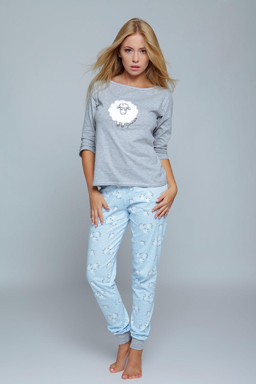 828ac8fddae2ab Piżama z owieczką BLUE SHEEP, szaro-niebieska 33666 w cenie 85,00 zł ...