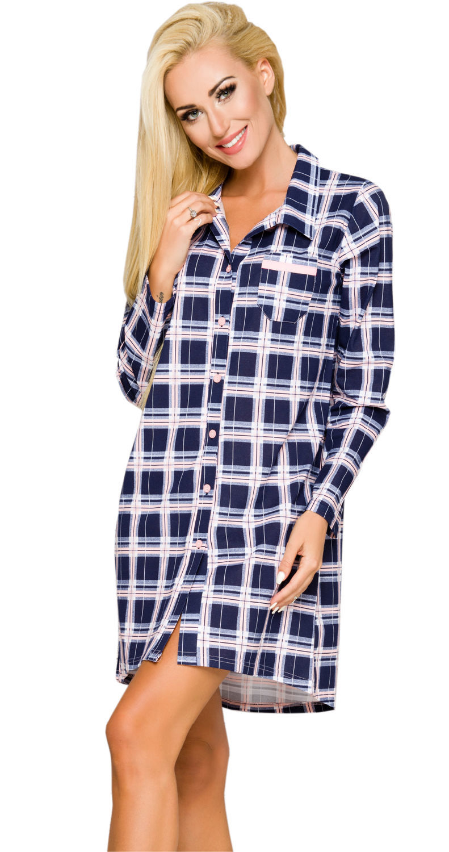 72d90e9b282fa6 Rozpinana koszulka w kratę 100% bawełna DALIA 1191 33682 w cenie 52 ...